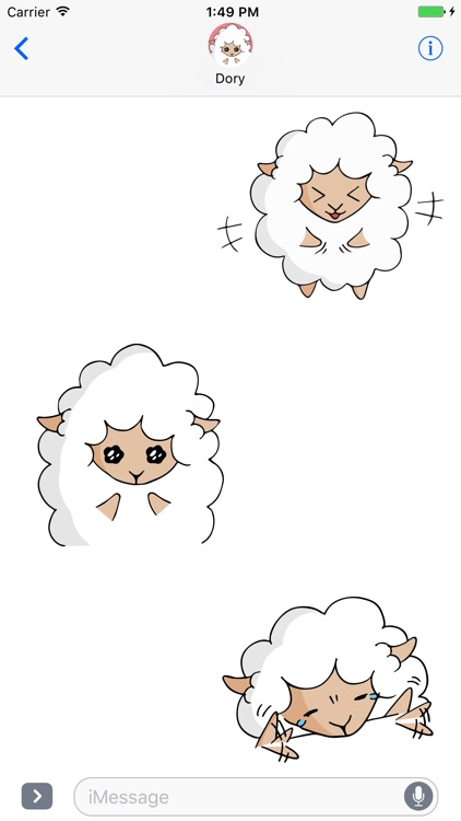 Fluffy Sheep - Animated Stickers for iMessage