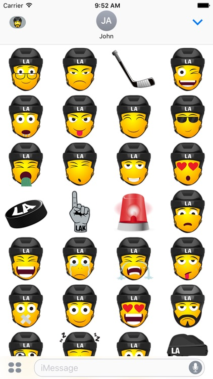 LA Hockey Stickers & Emojis screenshot-3