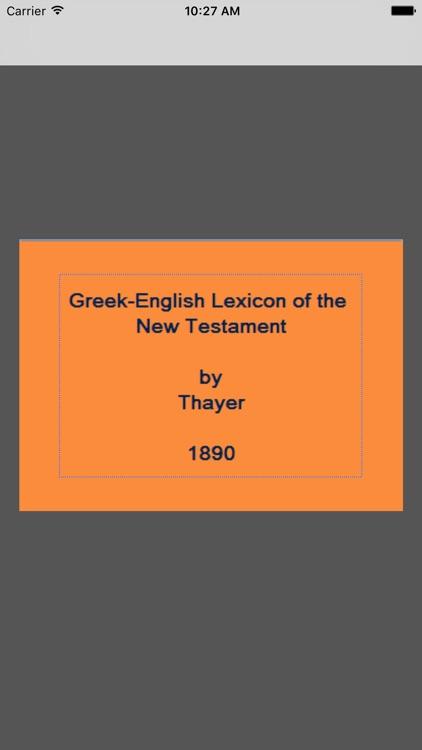 Greek-English (Thayer)