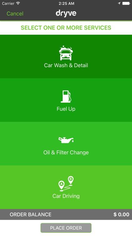 Dryve: On-Demand Car Services
