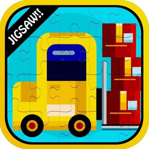 Color Vehicles Jigsaw Puzzle Games app logo