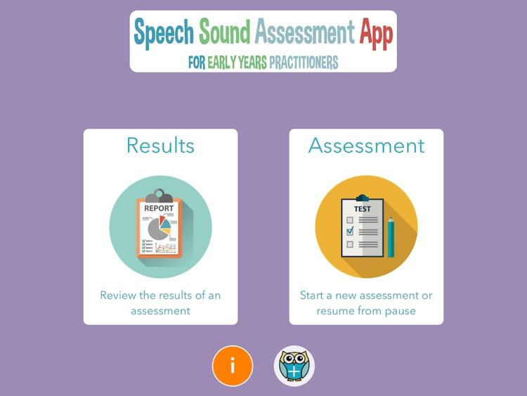 Speech Sound Assessment App for EYPs