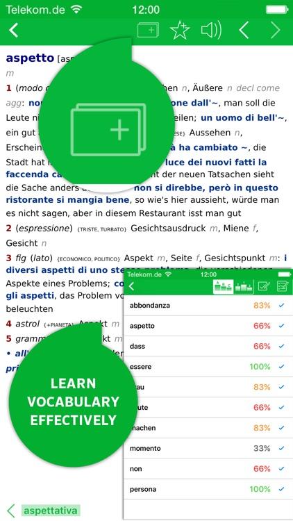 Dictionary Italian - German PREMIUM by PONS screenshot-4