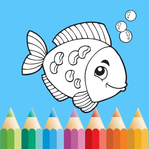 Fish Coloring Book: Color & Draw Sea Animals