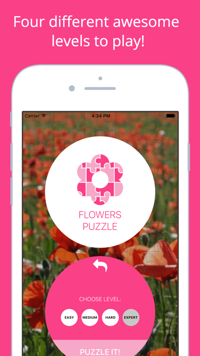 Flowers Puzzle - Play with your favorite flowers screenshot three