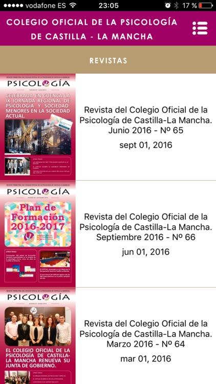 C.O. de la Psicología Castilla - La Mancha screenshot-4