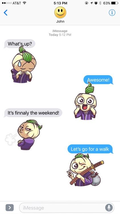 Ninja Onion Stickers