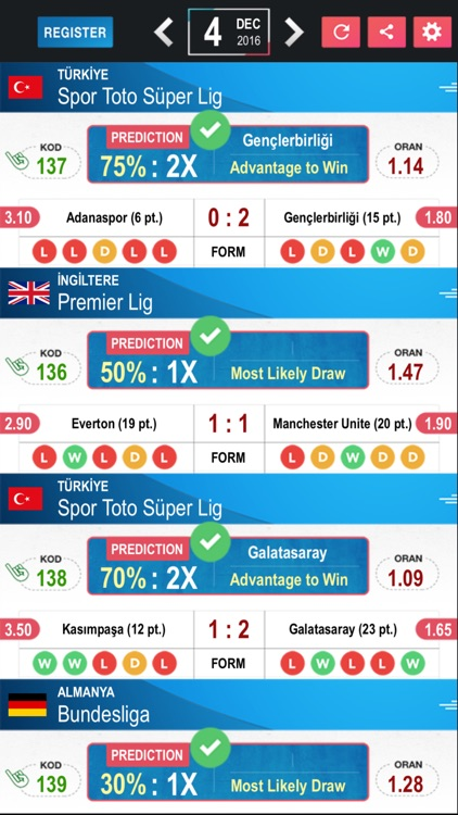 Tips Betting Prediction Results - Football LE screenshot-3