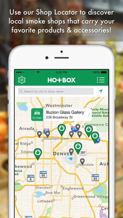 HotBox Smoke Shop Finder screenshot one