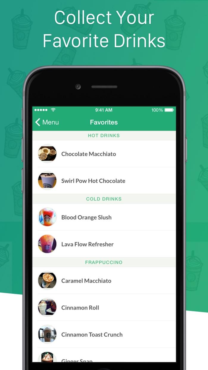 Secret Menu for Starbucks Free - Coffee Recipes. Screenshot