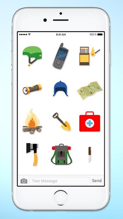 Camping Hiking and Climbing Fun Sticker Pack screenshot-4