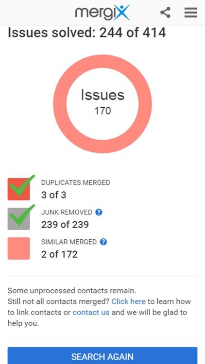 Mergix Duplicate Contacts Cleaner screenshot-3