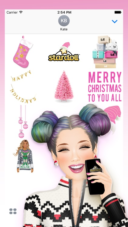 Stardoll Christmas Stickers