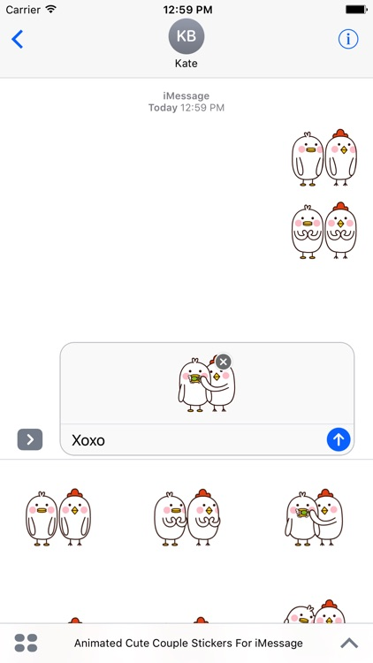 Animated Cute Couple Stickers For iMessage