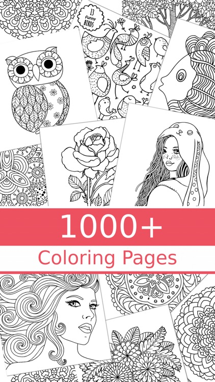 1000 Coloring Pages - Coloring Book for Adults