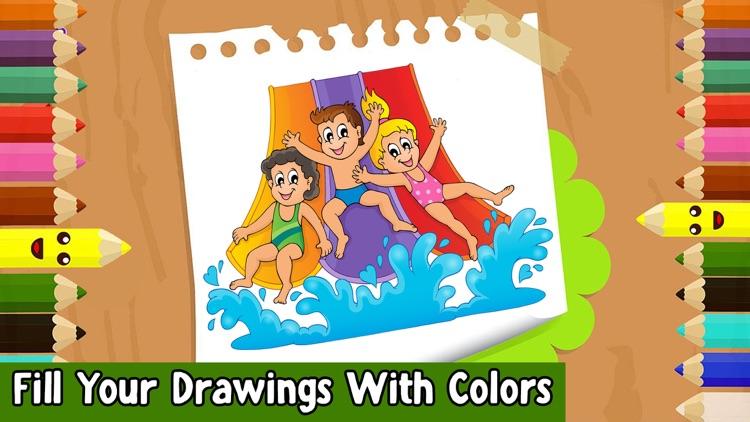 Kids Coloring Book! Draw, Color & Paint Sparkles screenshot-3