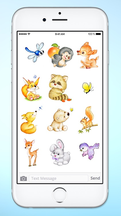 Cute Baby Animals Easter and Spring Sticker Pack screenshot-4