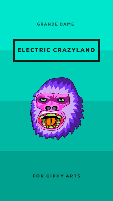 Electric Crazyland. Stickers by Grande Dame