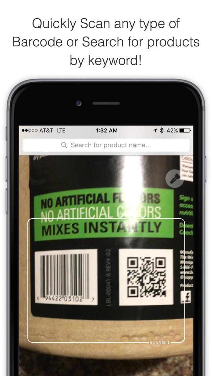 Bakodo - Barcode Scanner and QR Bar Code Reader Screenshot