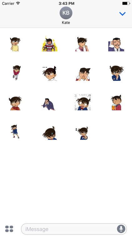 Animated Detective Conan Stickers For iMessage screenshot-3