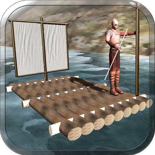 Raft Survival Escape Race - Ship Life Simulator 3D app logo