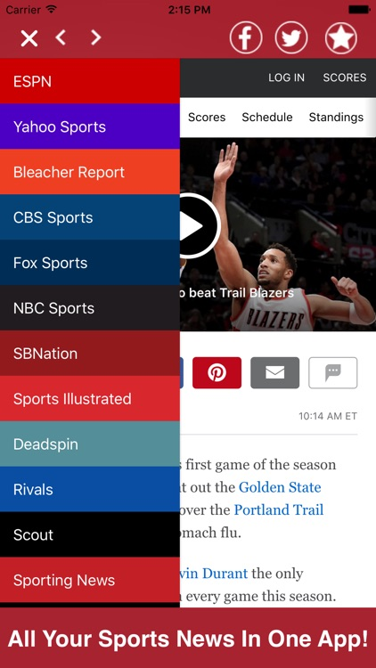 Sports News All In One Pro - Rumors, Videos, etc.