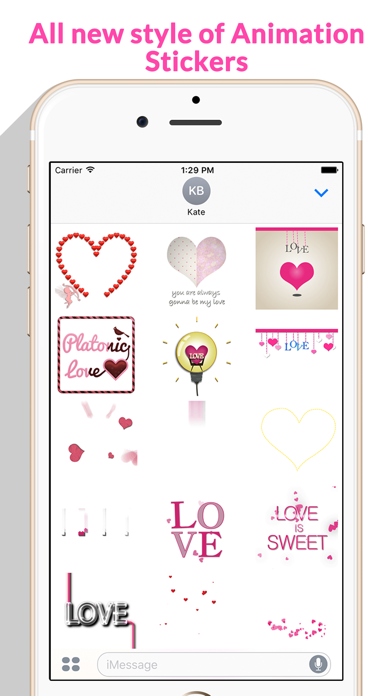 Lovely Animated Stickers screenshot 3