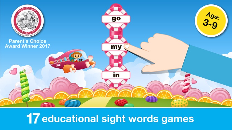 Sight Words Games in Candy Land: Reading for Kids