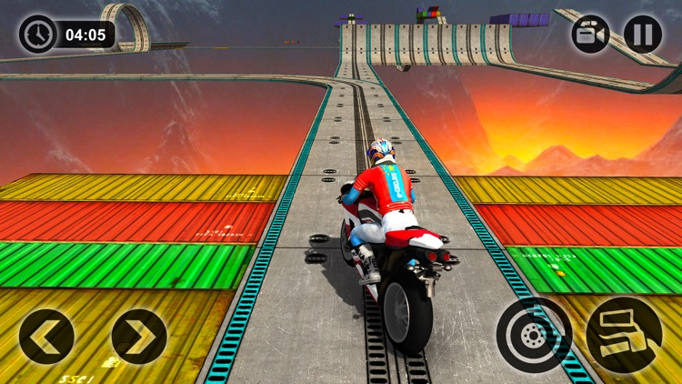 Motorbike Driving Simulator - impossible Tracks 3D screenshot-3