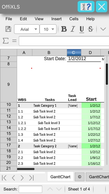 OffiXLS spreadsheet editor with LibreOffice Online
