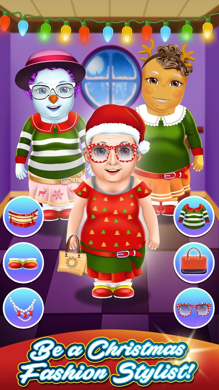 Christmas Salon Makeover Kid Games (Girl & Boy) Screenshot
