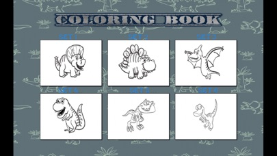Coloring Book - T rex Dinosaur Kids Learn To Paint screenshot one