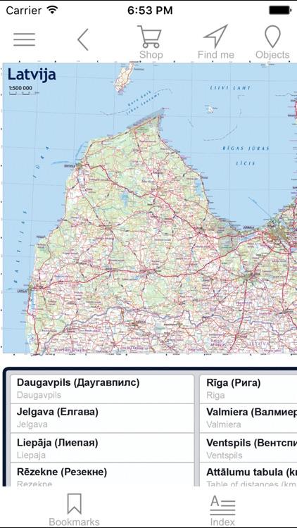 Latvia. Road map