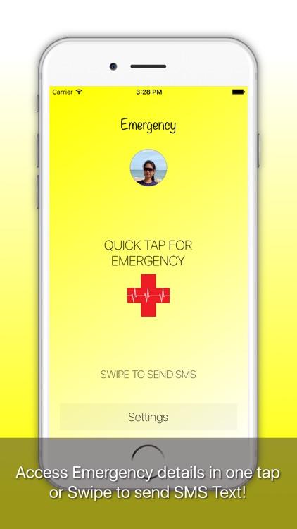 Emergency-ICE: Medical ID, Alarm, SMS, Location screenshot-0