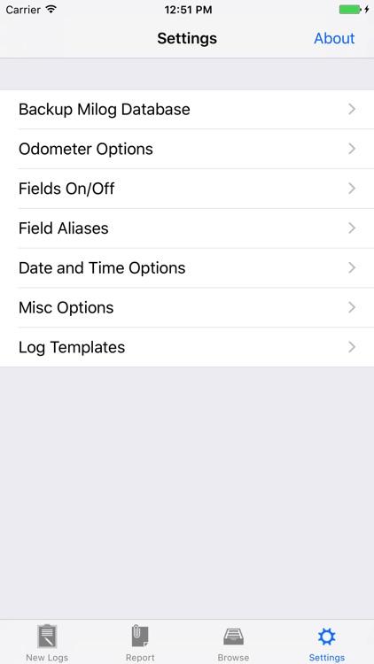 Milog - mileage log tracker screenshot-3