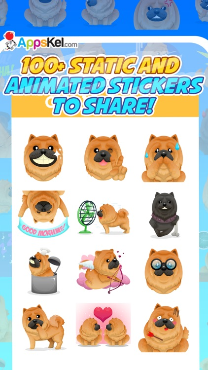 Chowmoji: Chow-Chow Dog Emoji & Stickers App screenshot-1