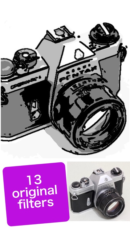 B&W Cam-Pic editor & cam filter for selfie portrat screenshot-0