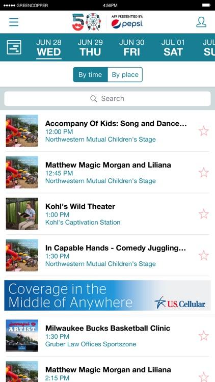 Official Summerfest 2017 App screenshot-4