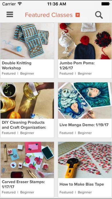 Creativebug: art, drawing, knitting, sewing & more screenshot one