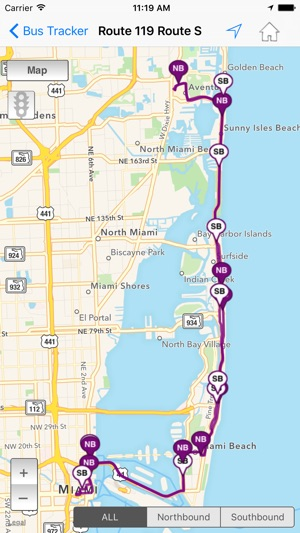 Miami Bus Map MDT Tracker on the App Store Miami Bus Map