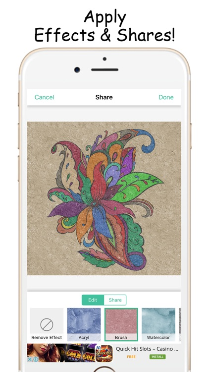 Fantastic Color Therapy Coloring Book For Adults screenshot-3
