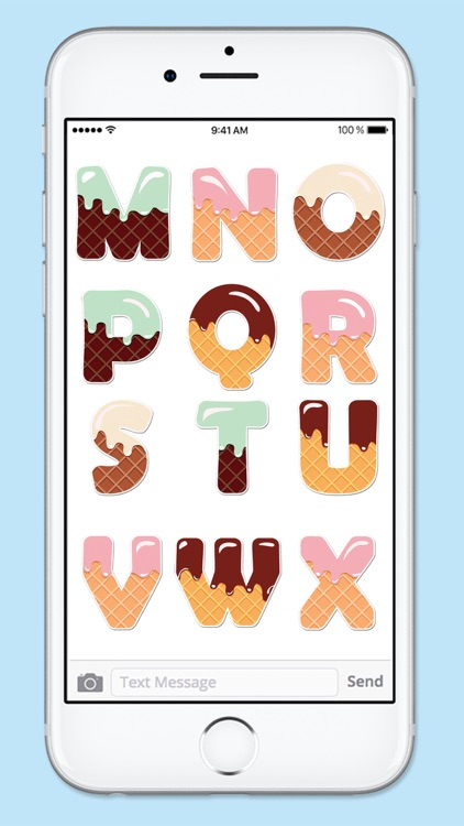 Ice Cream Letters and Numbers Sticker Pack screenshot-3