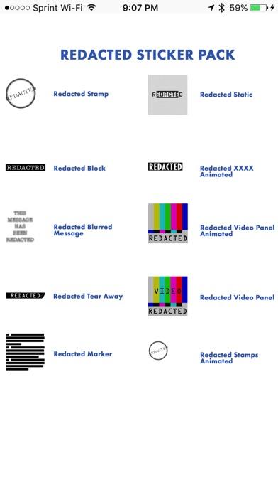 Redacted Sticker Pack screenshot one