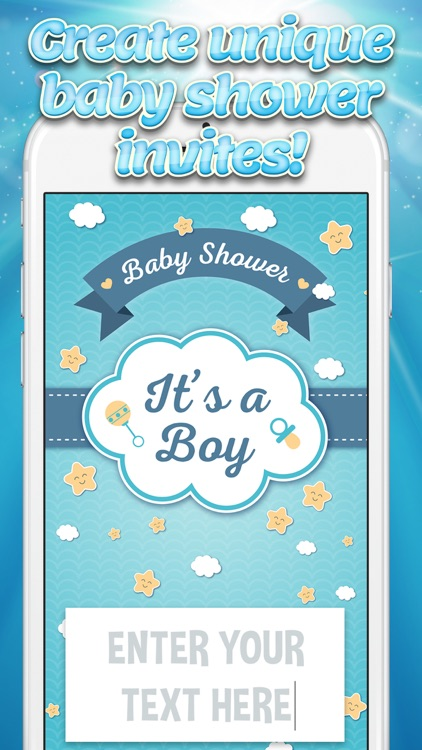 It's a Boy! Baby Shower Invitations