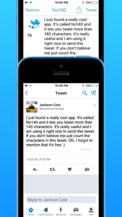 No140 - Make Longer Tweets screenshot-3