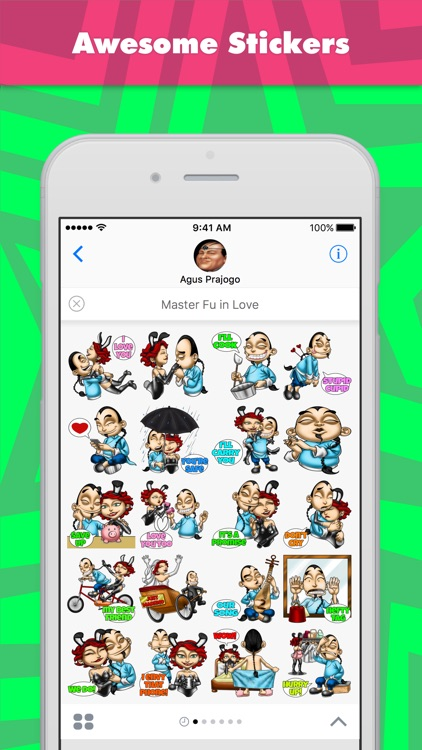 Master Fu in Love stickers by Choppic