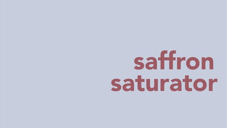Saffron Saturator