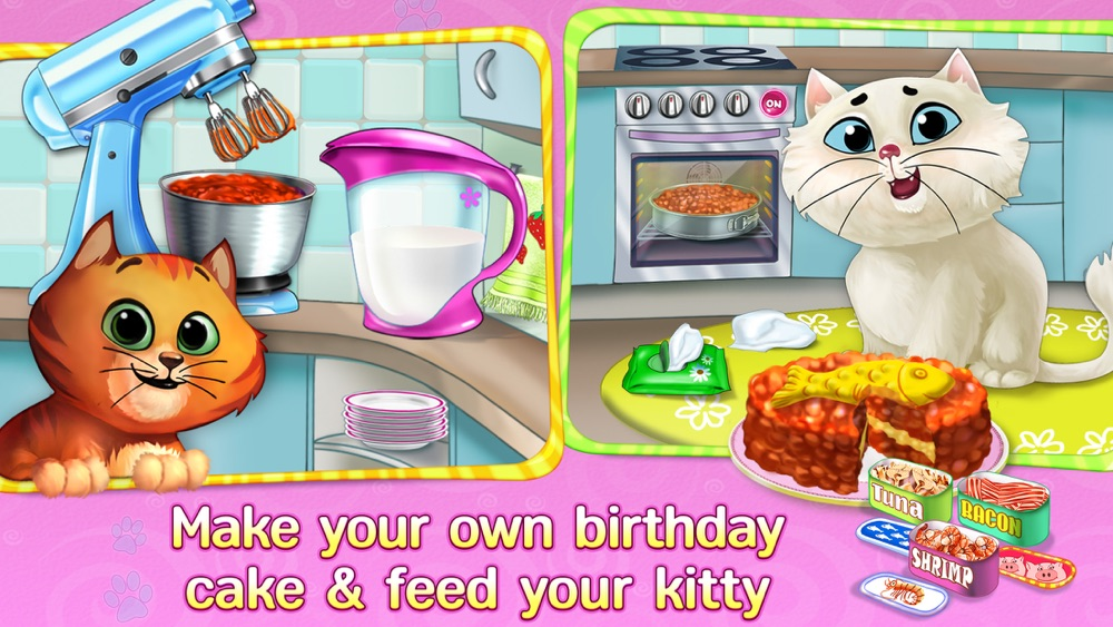 Kitty Cat Birthday Surprise: Care, Dress Up & Play hack tool