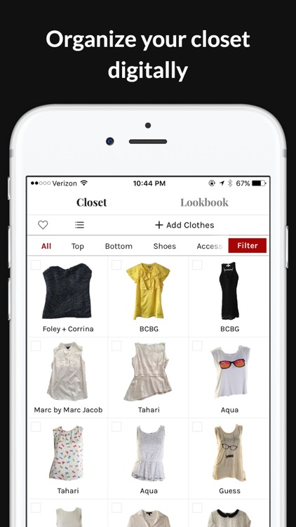 GlamOutfit closet organizer & outfit planner