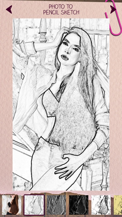 Photo to Pencil Sketch Portrait Drawing Effects